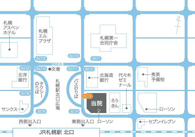 地上からのアクセス地図